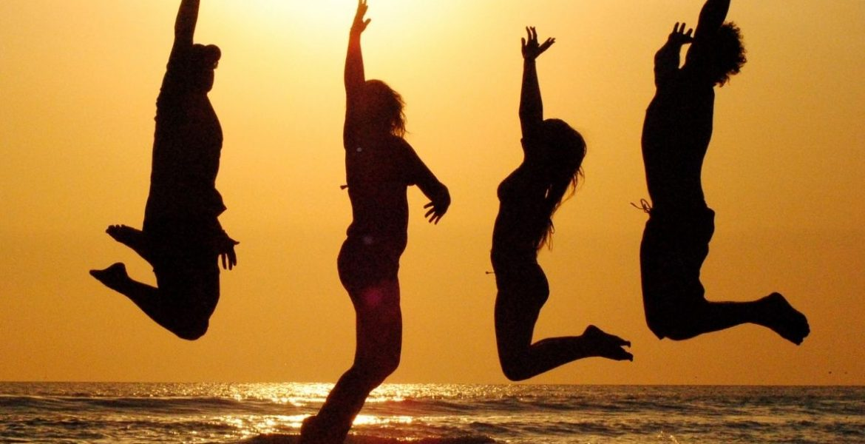 jump for joy.