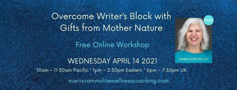 Overcome Writer's Block workshop.