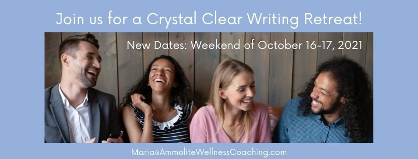 Crystal Clear Writing Retreat October 2021.